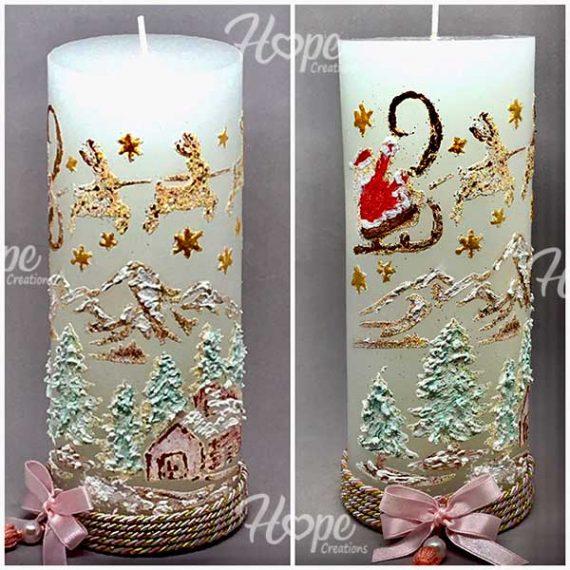 CHR21 - Διακοσμητικό κερί «Άγιος Βασίλης»