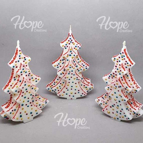 CHR22 - Κέρινο Χριστουγεννιάτικο δέντρο (αρωματικό)