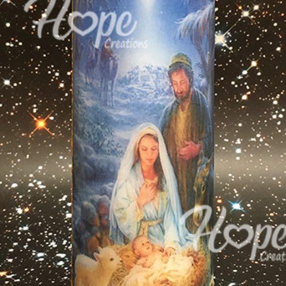 CHR16  - Διακοσμητικό Χριστουγεννιάτικο κερί